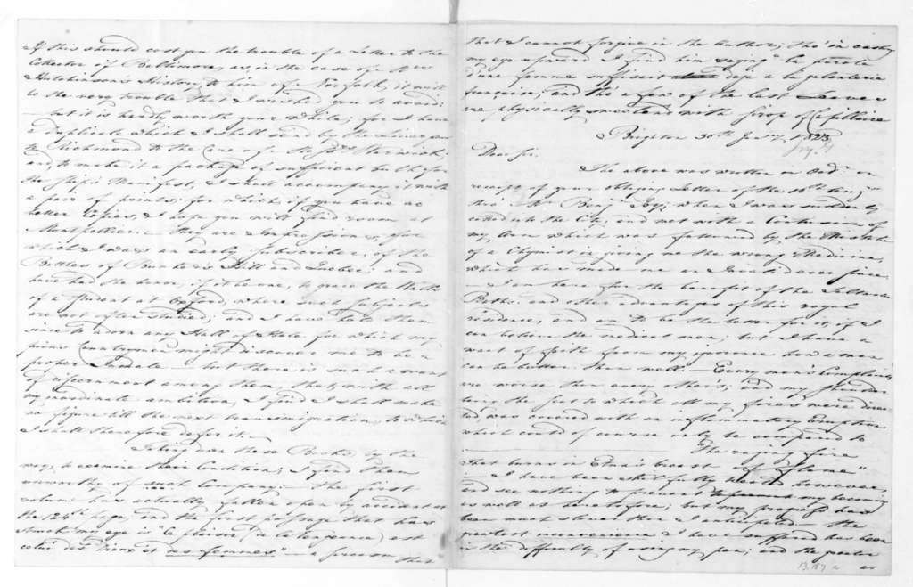 George Joy to James Madison. 1823.