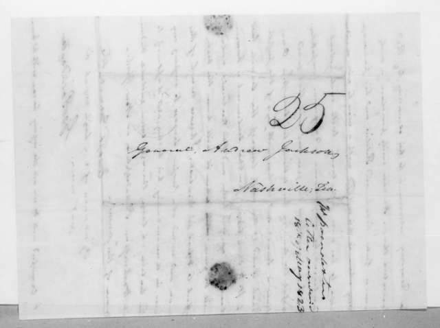 George Poindexter to Andrew Jackson, May 4, 1823