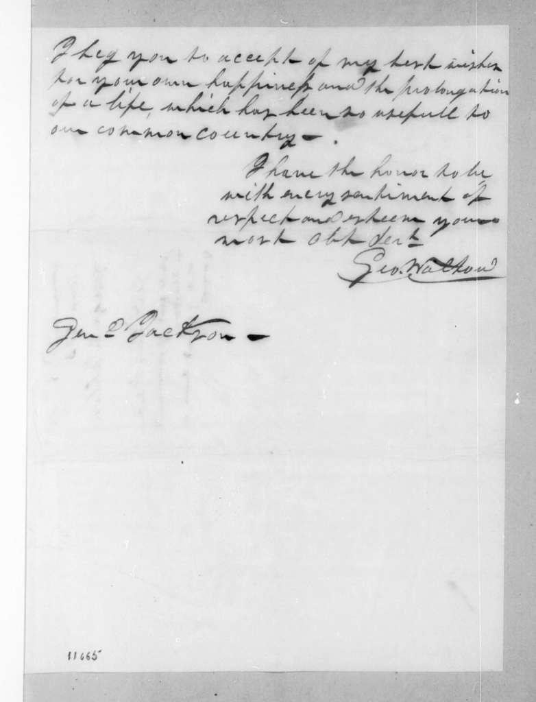 George Walton to Andrew Jackson, April 18, 1823