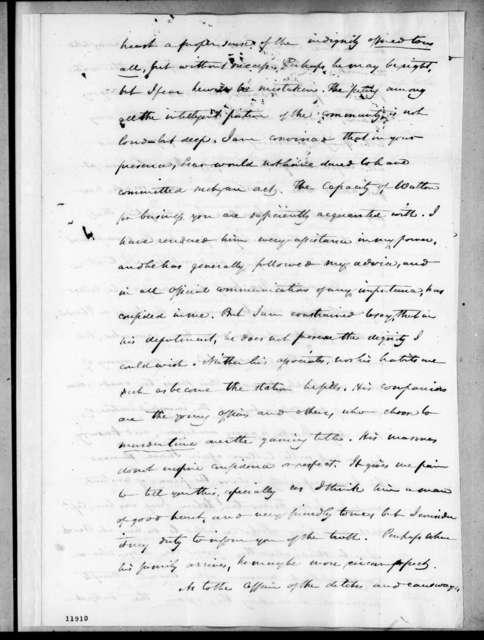 Henry Marie Brackenridge to Andrew Jackson, December 22, 1823