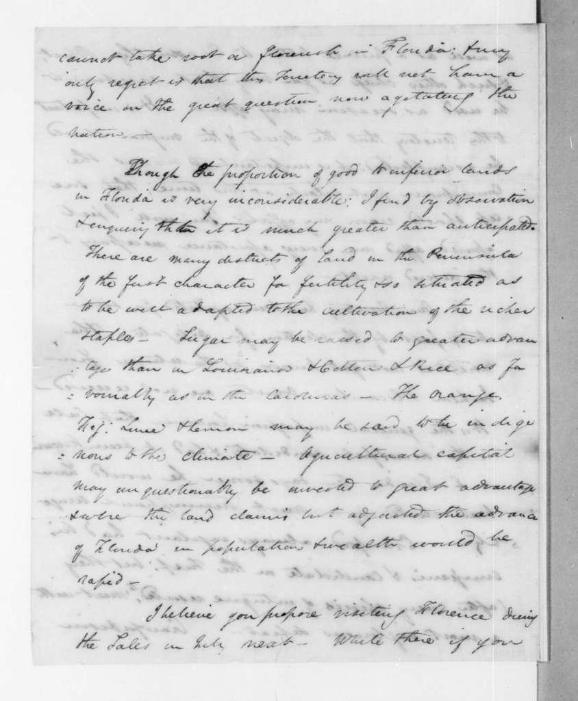 James Gadsden to Andrew Jackson, June 8, 1823