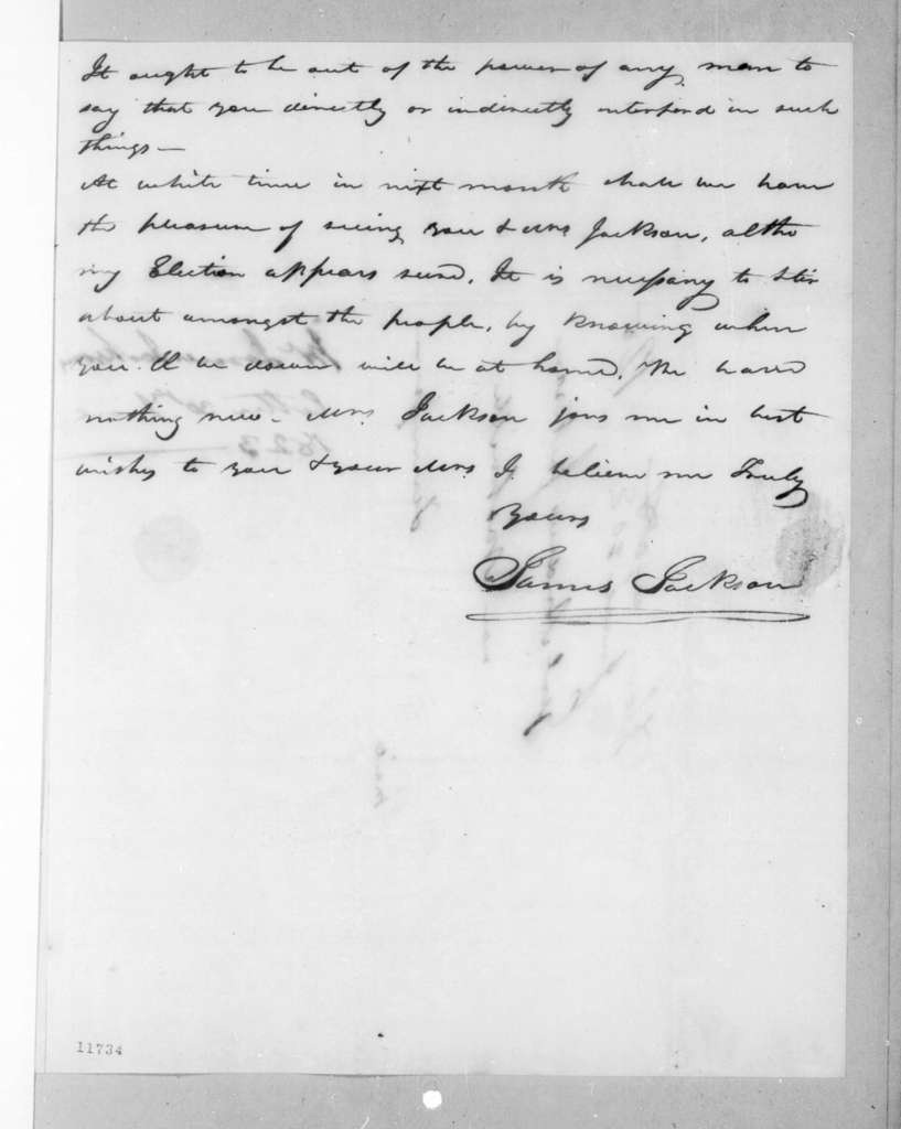 James Jackson to Andrew Jackson, June 30, 1823