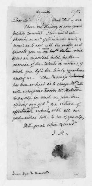 James Madison to Baron Hyde de Neuville, December 19, 1823.