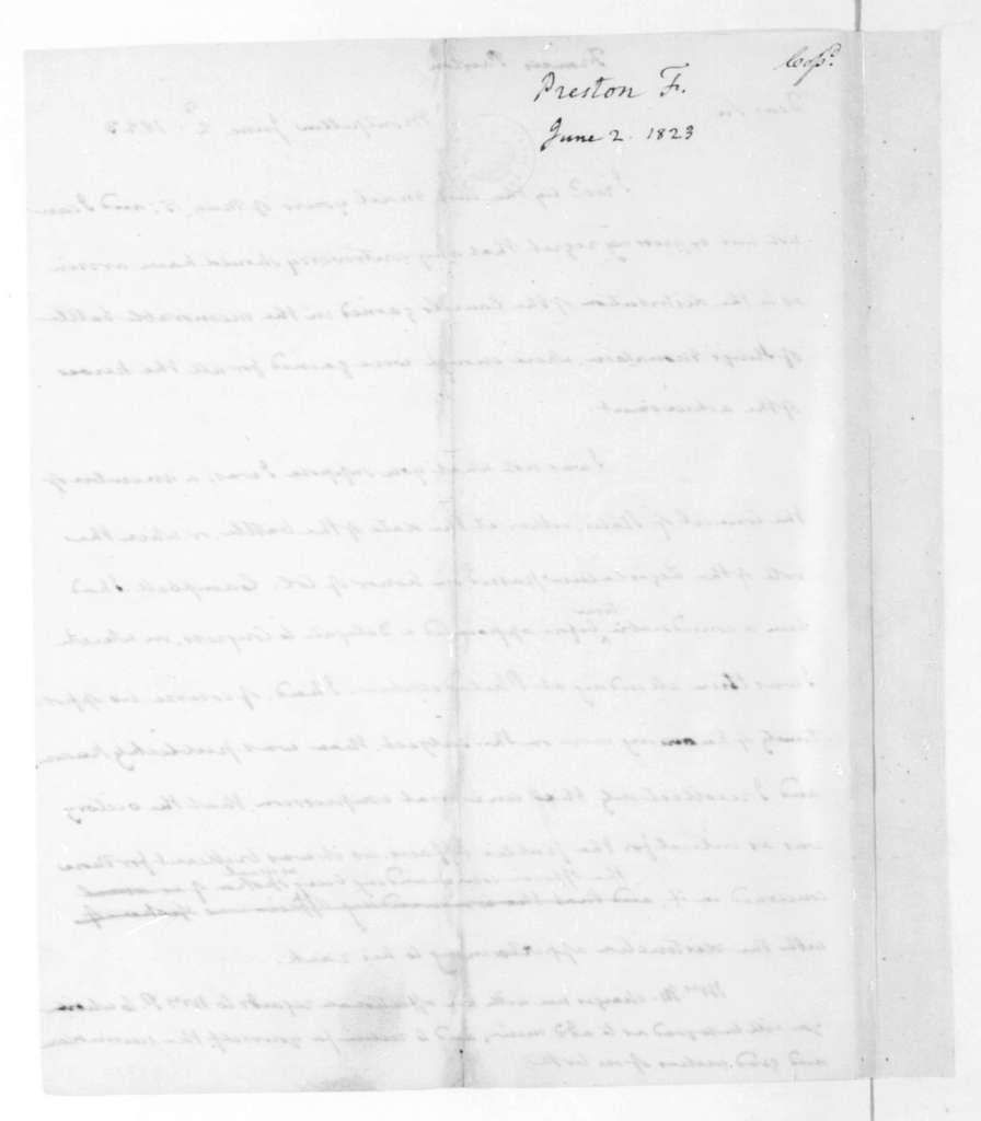 James Madison to Francis Preston, June 2, 1823.