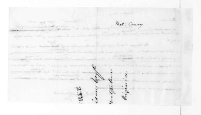 James Madison to Mathew Carey, September 29, 1823.