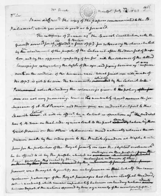 James Madison to Richard Rush, July 22, 1823.