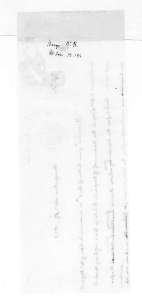 James Madison to Robert Briggs, September 13, 1823.