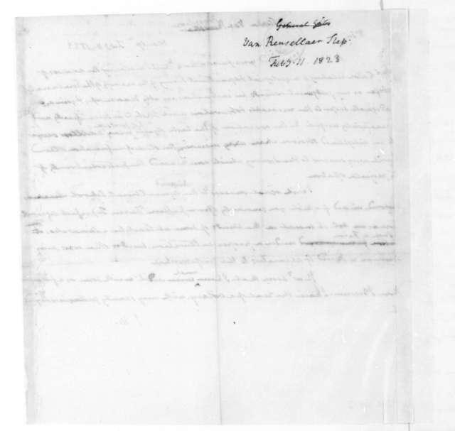 James Madison to Stephen Van Rensselaer, February 11, 1823.