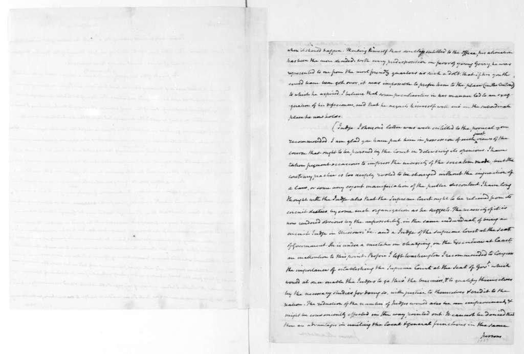 James Madison to Thomas Jefferson, January 15, 1823.