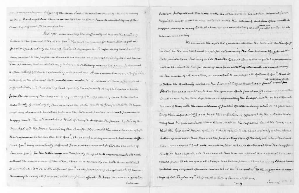 James Madison to Thomas Jefferson, June 27, 1823.