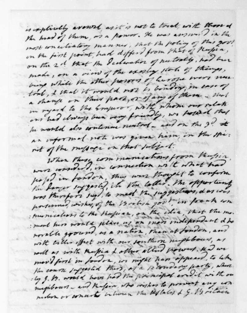 James Monroe to James Madison, December 20, 1823.