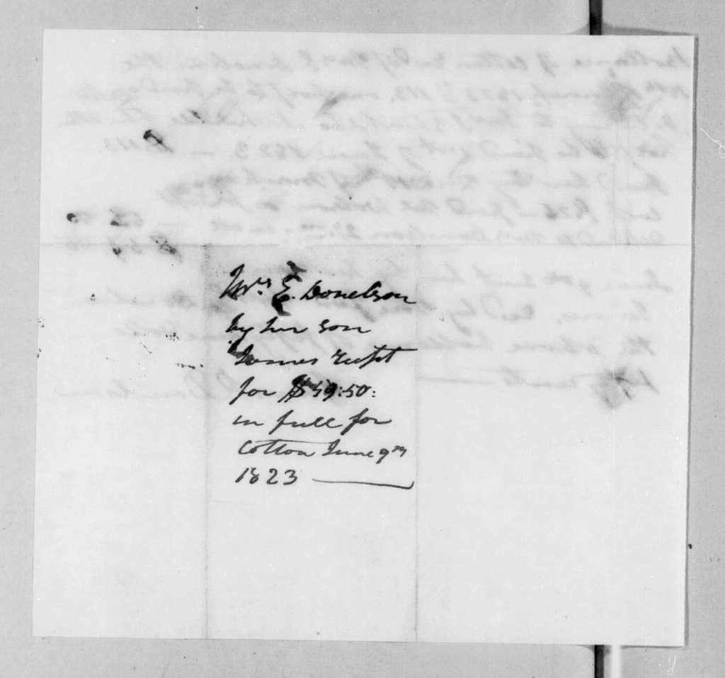 James Rucker Donelson, June 9, 1823
