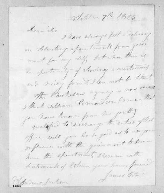James Titus to Andrew Jackson, September 7, 1823