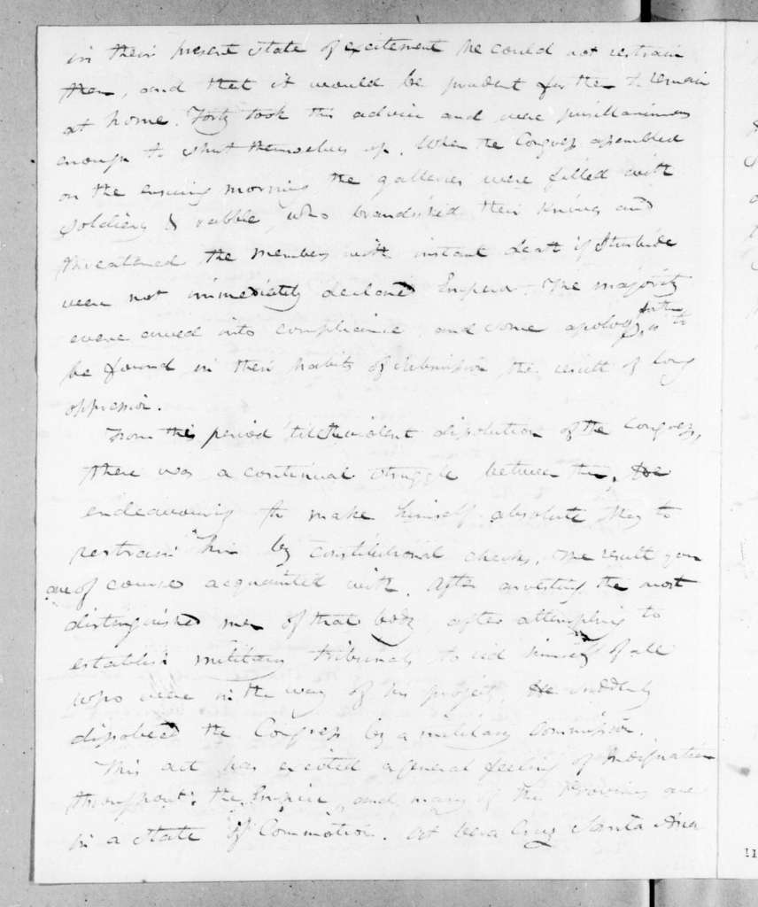 Joel Roberts Poinsett to Andrew Jackson, January 31, 1823