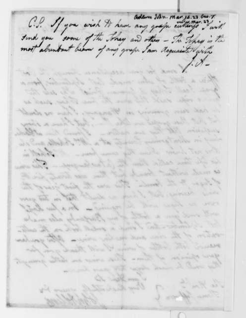 John Adlum to Thomas Jefferson, March 14, 1823