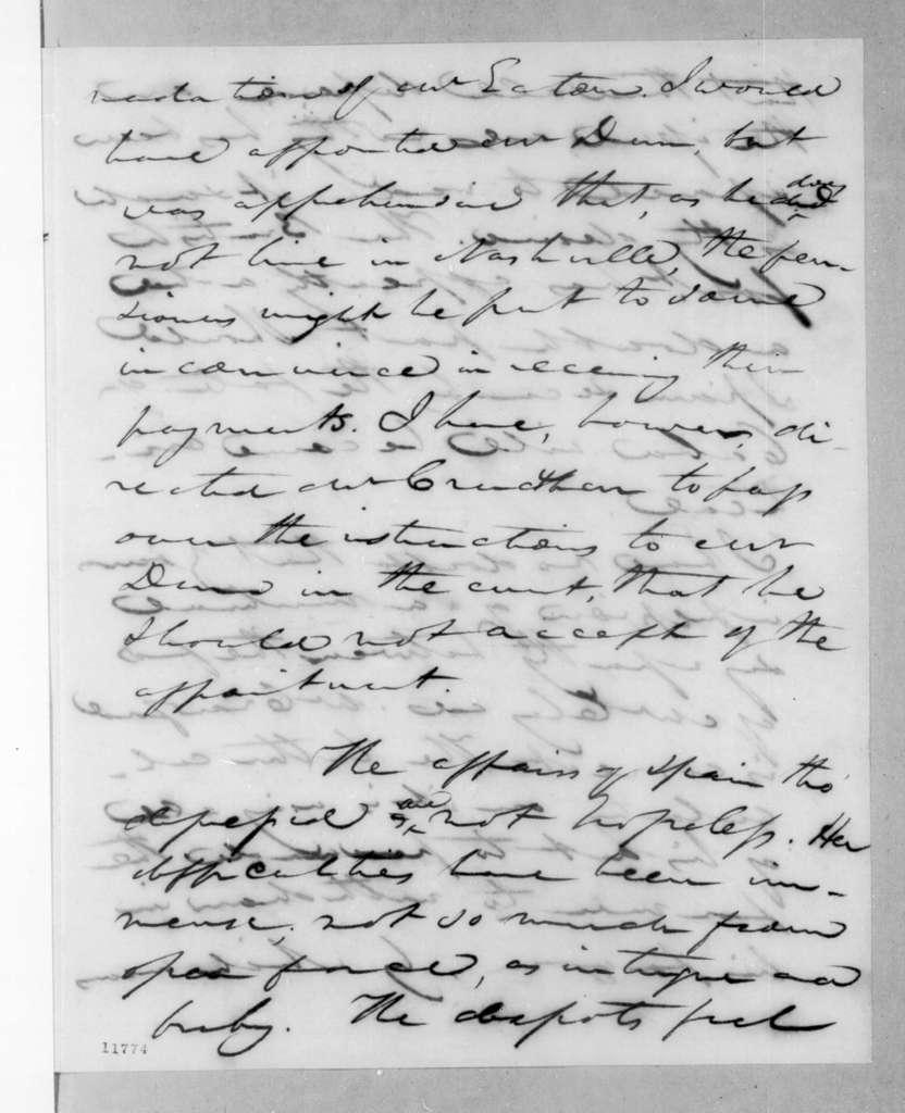 John Caldwell Calhoun to Andrew Jackson, July 31, 1823