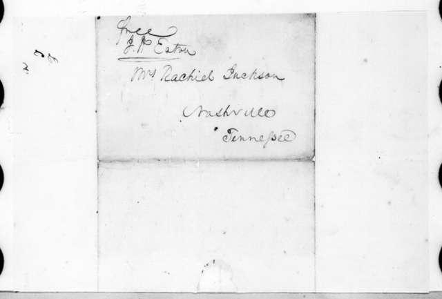 John Henry Eaton to Rachel Donelson Jackson, December 18, 1823