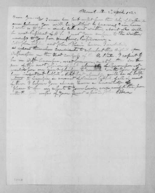 John Rhea to Andrew Jackson, April 2, 1823