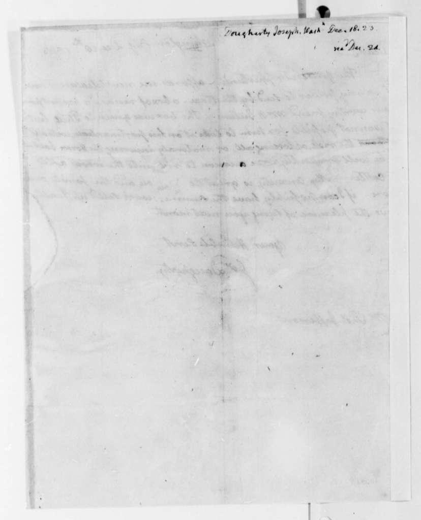 Joseph Dougherty to Thomas Jefferson, December 18, 1823