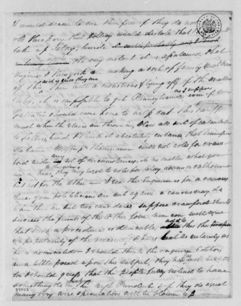 Pleasant M. Miller to Thomas Jefferson, April 11, 1823