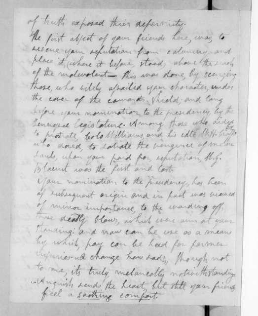 Richard Gilliam Dunlap to Andrew Jackson, July 2, 1823