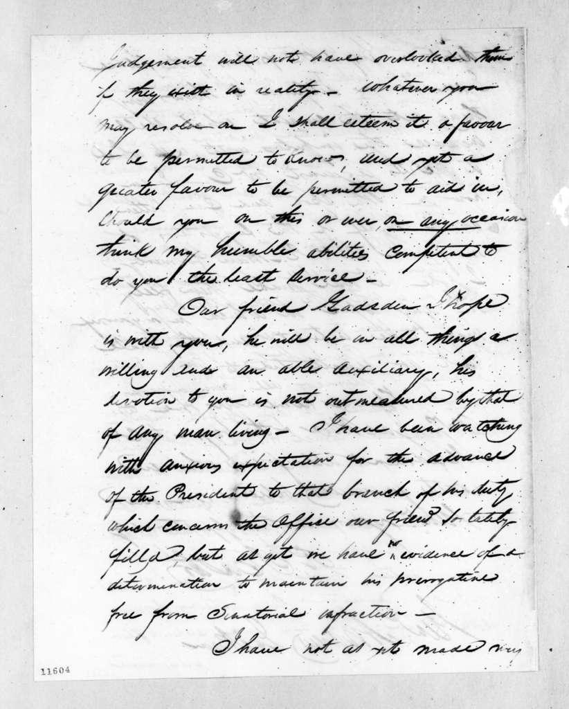 Richard Ivy Easter to Andrew Jackson, February 25, 1823