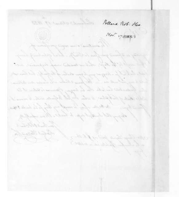 Robert Pollard & Son to James Madison, November 17, 1823.