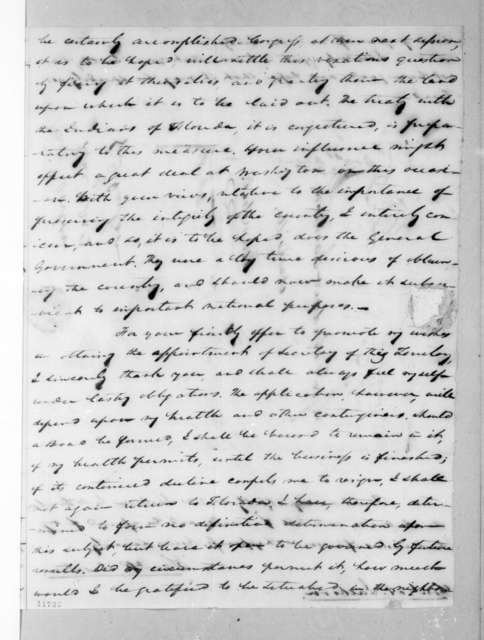 Samuel Ragland Overton to Andrew Jackson, June 29, 1823