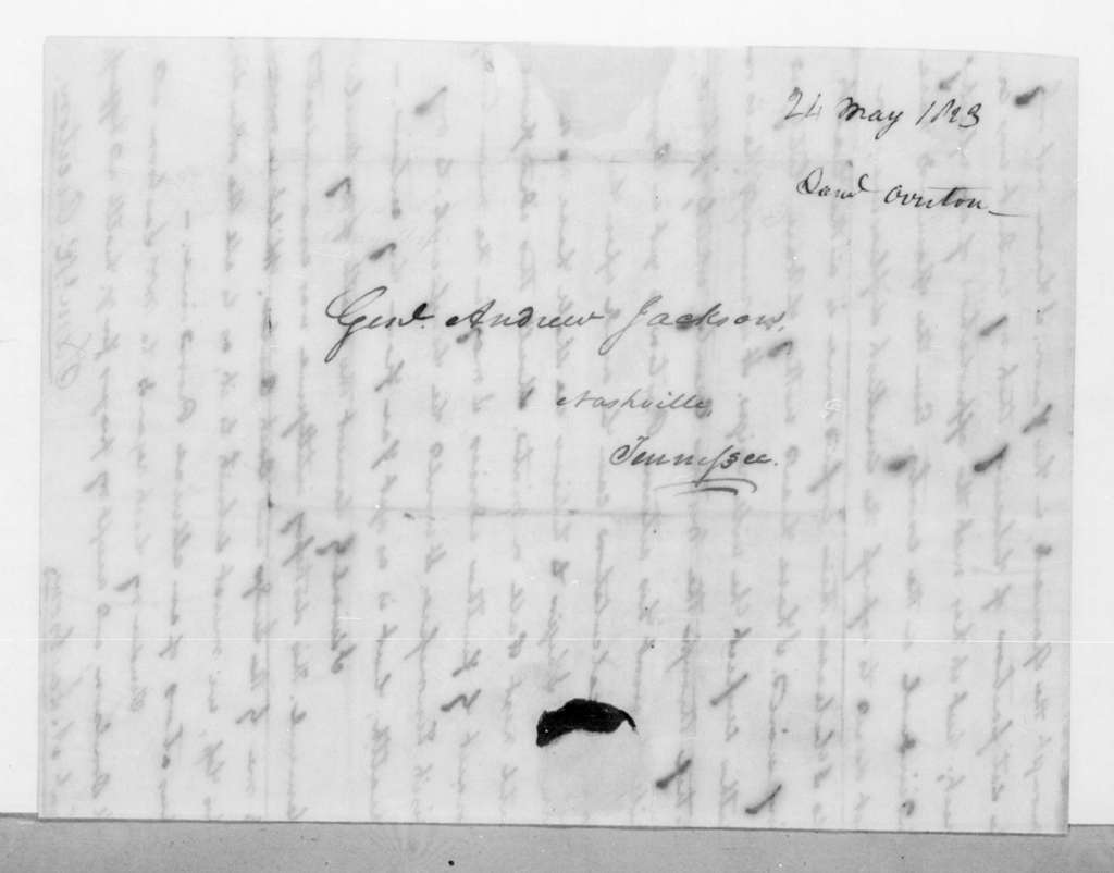 Samuel Ragland Overton to Andrew Jackson, May 24, 1823