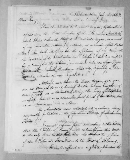 Stephen Simpson to Andrew Jackson, July 5, 1823