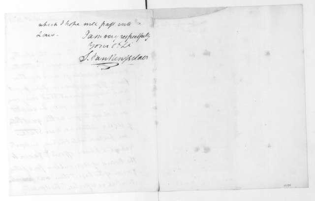 Stephen Van Rensselaer to James Madison, February 4, 1823.