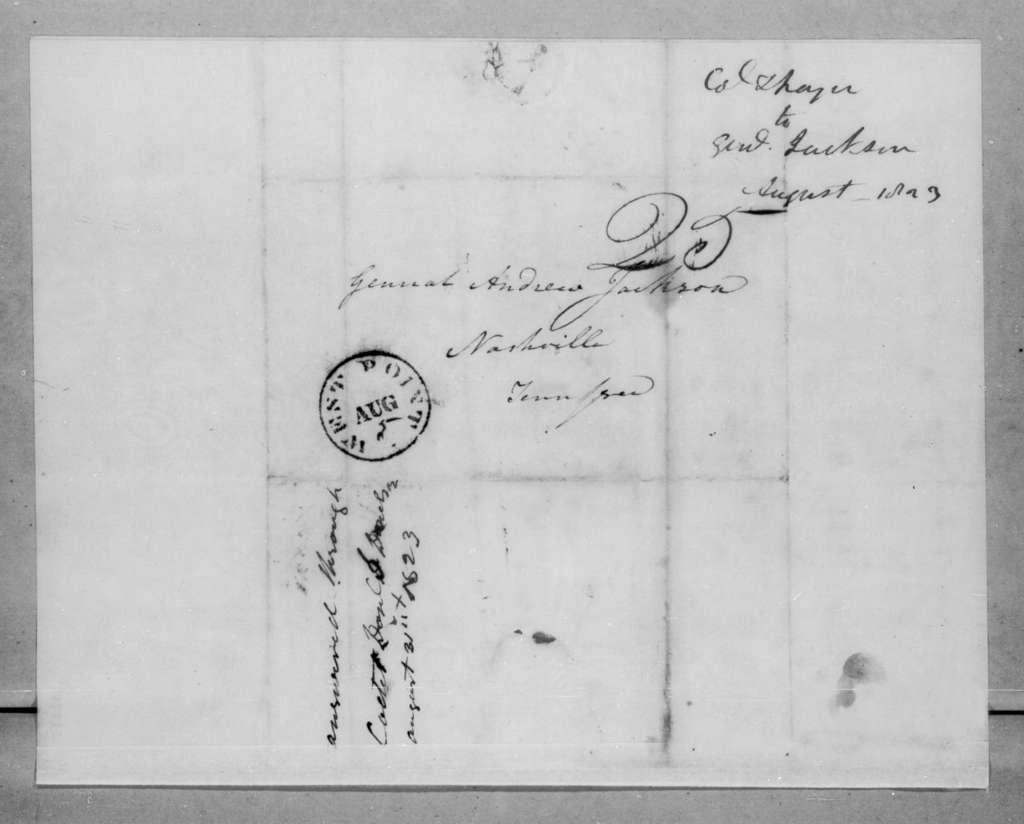 Sylvanus Thayer to Andrew Jackson, August 4, 1823