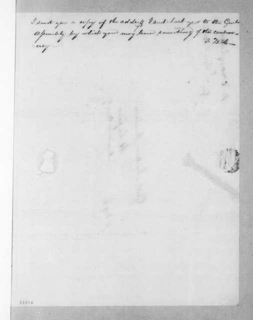Thomas B. Craighead to Andrew Jackson, April 25, 1823