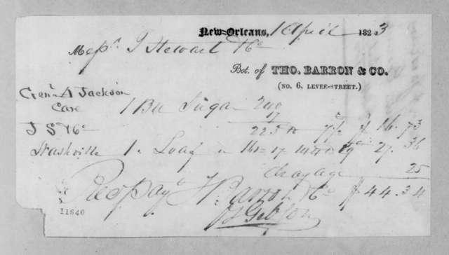 Thomas Barron & Company to Andrew Jackson, April 1, 1823