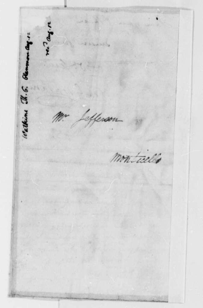 Thomas G. Watkins to Thomas Jefferson, August 12, 1823