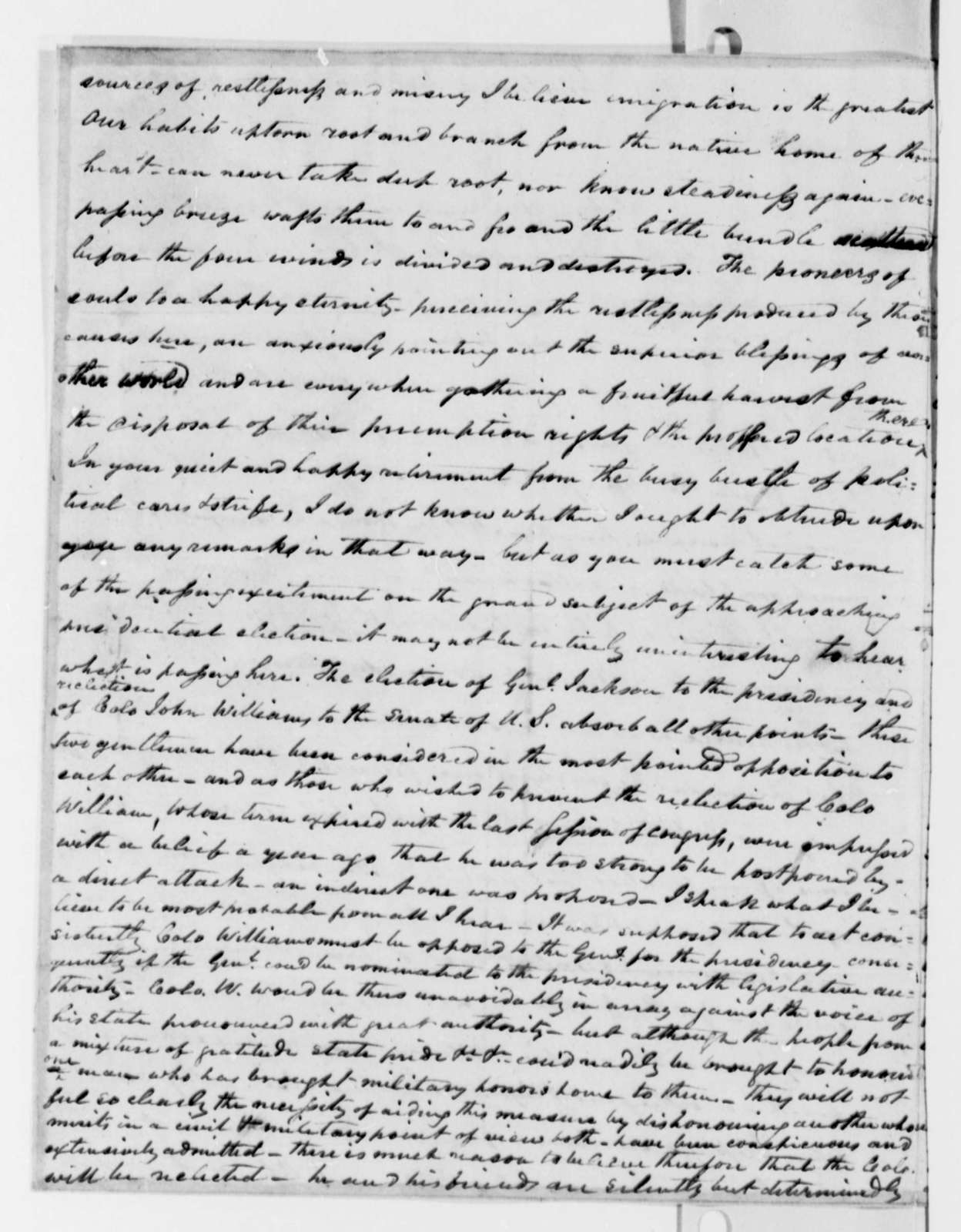 Thomas G. Watkins to Thomas Jefferson, May 4, 1823