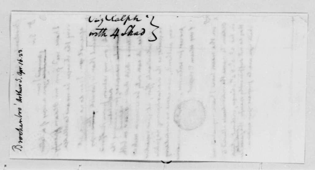 Thomas Jefferson to Arthur S. Brockenbrough, April 16, 1823
