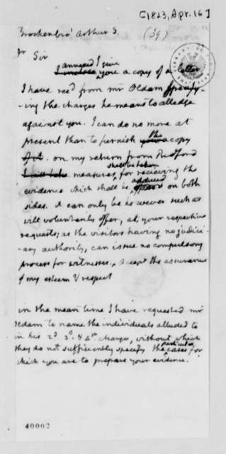 Thomas Jefferson to Arthur S. Brockenbrough, April 16, 1823