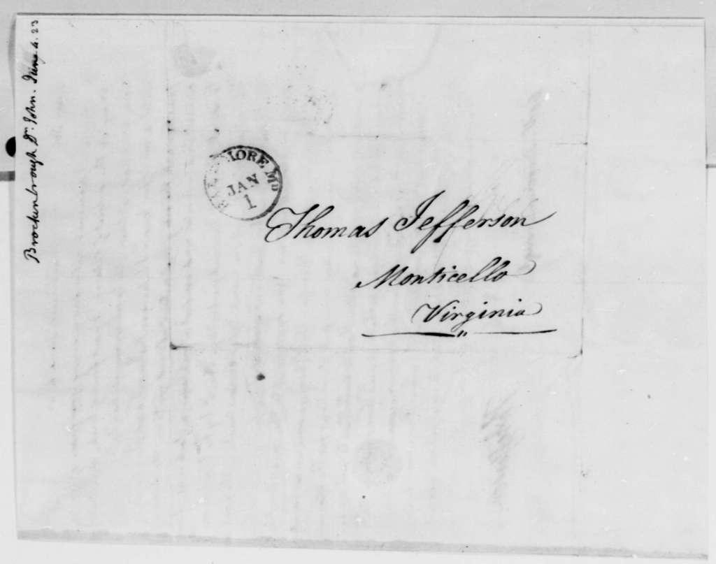 Thomas Jefferson to Arthur S. Brockenbrough, June 4, 1823