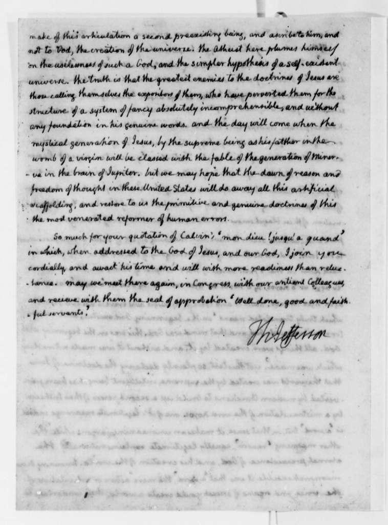 Thomas Jefferson to John Adams, April 11, 1823
