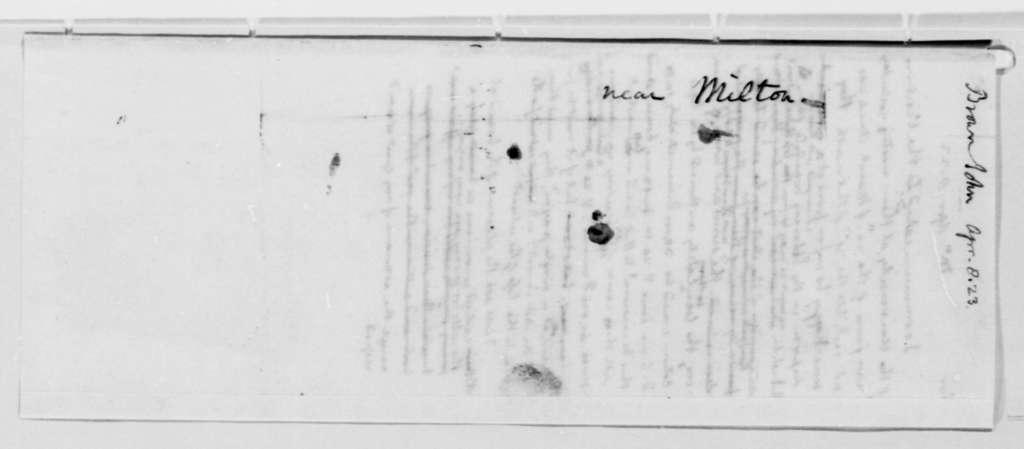 Thomas Jefferson to John Brown, April 8, 1823