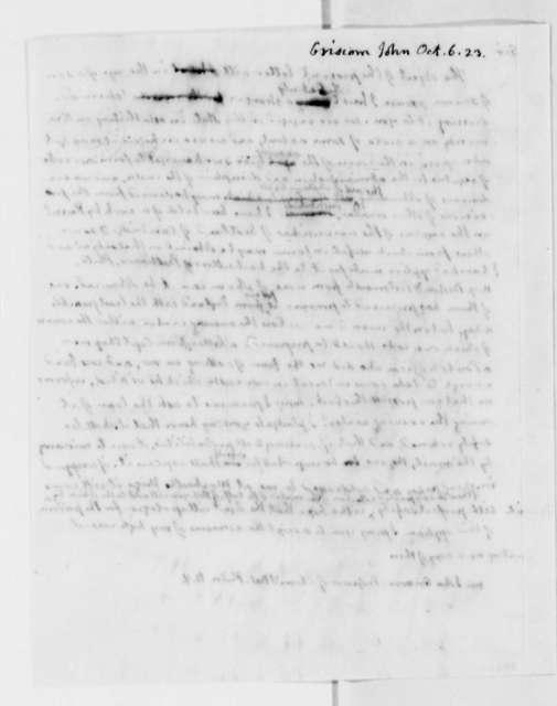 Thomas Jefferson to John Griscom, October 6, 1823