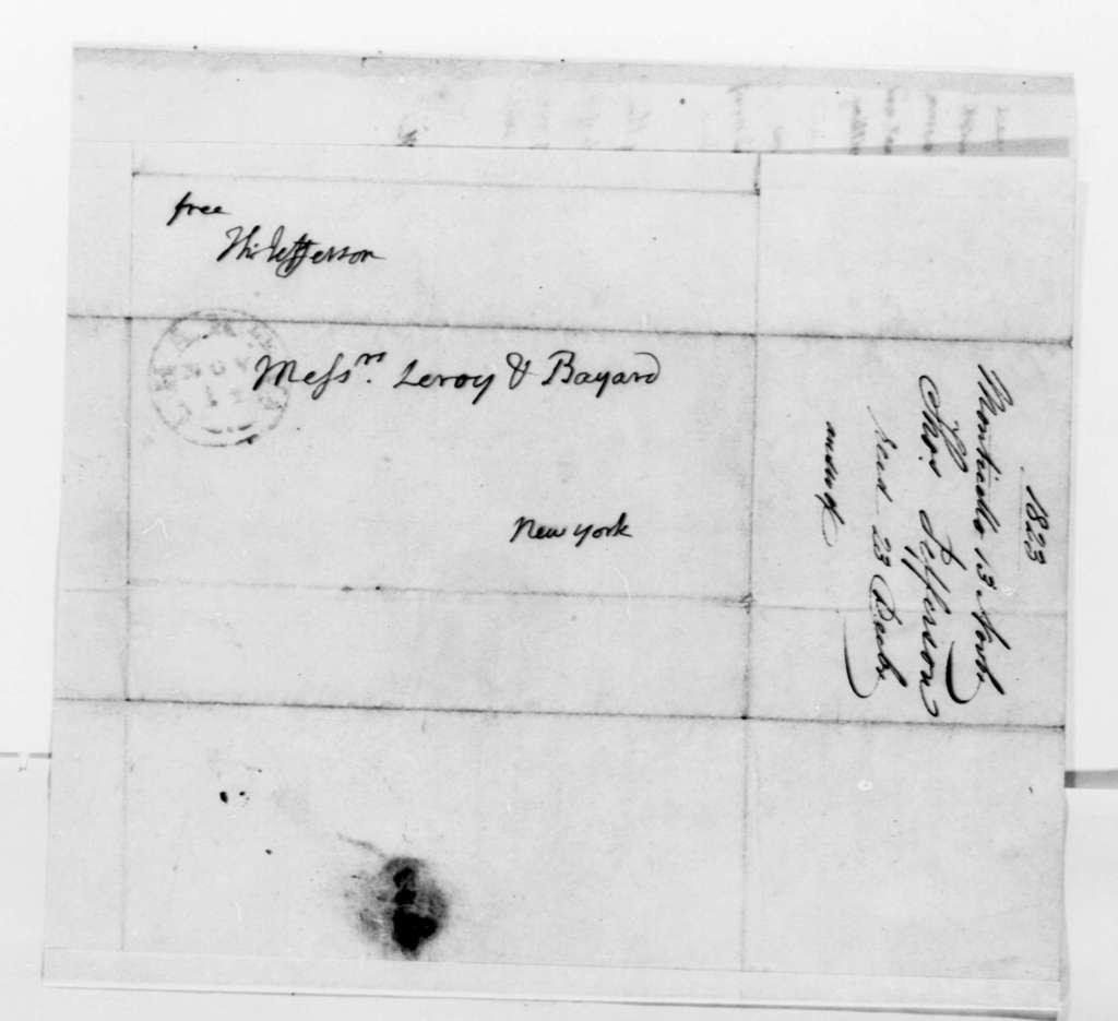 Thomas Jefferson to Leroy-Bayard & Company, November 13, 1823