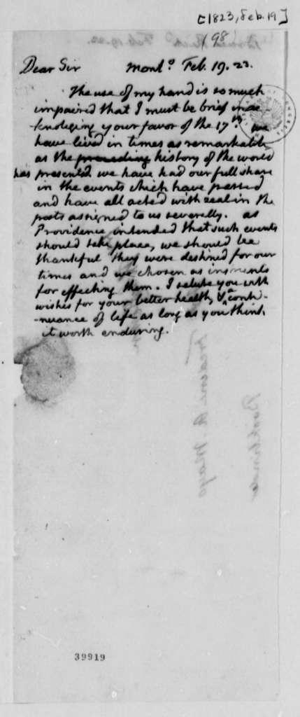 Thomas Jefferson to Richard Bruce, February 19, 1823