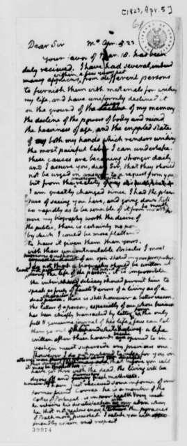 Thomas Jefferson to Robert Walsh, Jr., April 5, 1823