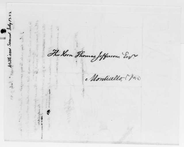 Thomas Jefferson to Samuel Williams, July 9, 1823