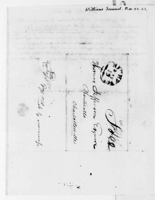 Thomas Jefferson to Samuel Williams, November 22, 1823