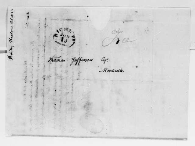 Thomas Jefferson to Theodorus Bailey, October 8, 1823