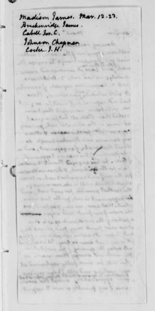 Thomas Jefferson to University of Virginia Board of Visitors, March 12, 1823, Circular