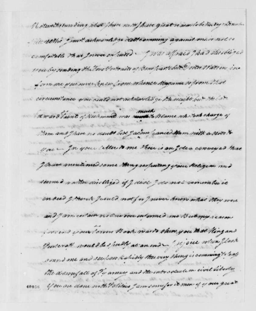 Thomas Leiper to Thomas Jefferson, May 27, 1823
